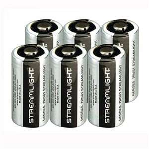 Streamlight CR123A 3-Volt Lithium Batteries - 6 Pack