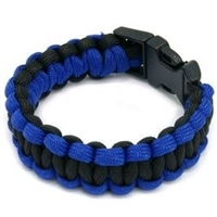 Paracord Bracelet - Blue/Black