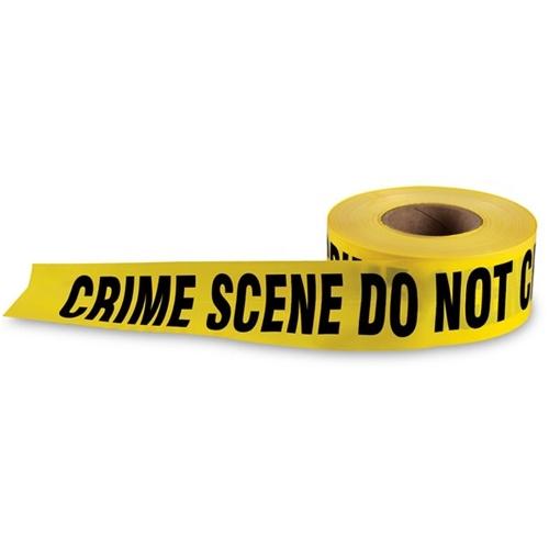 barricade tape crime scene do not cross