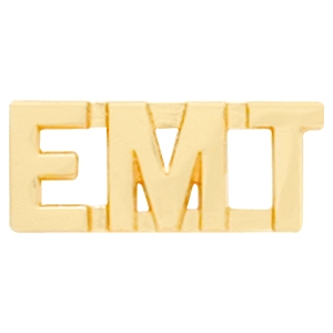"Gold ""EMT"" Collar Pin (Set of 2)"