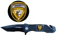Combo Edge Knife w/ Harris County Logo