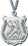 Sterling Silver Saint Michael Pendant - Large (1 inch)