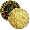 Saint Florian Prayer Coin for Firefighters