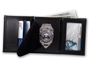 "Perfect Fit Trifold Wallet w/ Single ID Window (ID Size 2-1/4"" x 4"")"