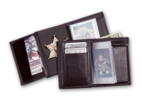 "Perfect Fit Recessed Badge Wallet w/ Single ID window (ID Size 2-1/2"" x 4"")"