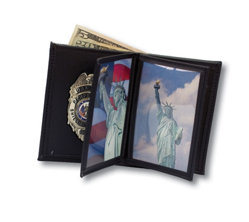 perfect fit badge with double id and credit card wallet pf120a