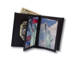 Perfect Fit Badge with Double ID and Credit Card Wallet - PF120-A