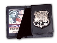 "Perfect Fit 850 Flip Out Badge Case w/ Single ID Window (2-5/8""x 4-1/4"")"
