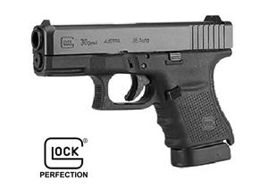 GLOCK 30 W/ GLOCK NIGHT SIGHT (BLUE LABEL)