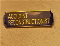 Blue & Gold Accident Reconstructionist Bar