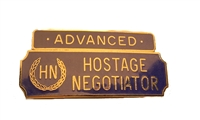 Silver & Blue Advanced Hostage Negotiator Award Bar