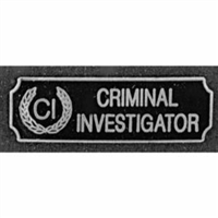 Criminal Investigation Award Bar