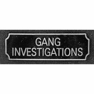 Gang Investigations Award Bar