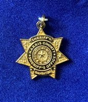 HCSO Gold Plated Sheriff's Daughter Pendent