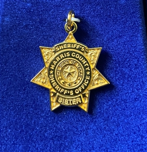 HCSO Gold Plated Sheriff's Sister Pendent