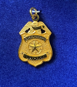 HPD Gold Plated Officer's Mom Pendent