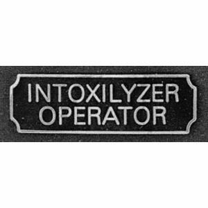 Intoxilyzer Operator Award Bar