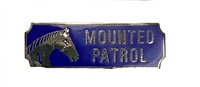 Mounted Patrol Award Bar