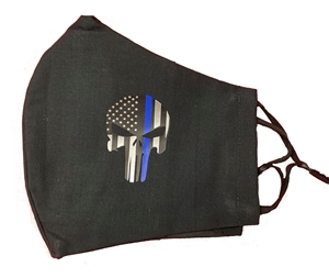 Thin Blue Line Punisher Mask