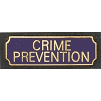 Vintage Crime Prevention Award Bar