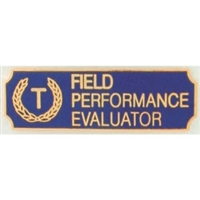 Vintage Field Performance Evaluator Award Bar