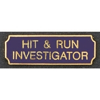 Vintage Hit & Run Investigator Award Bar