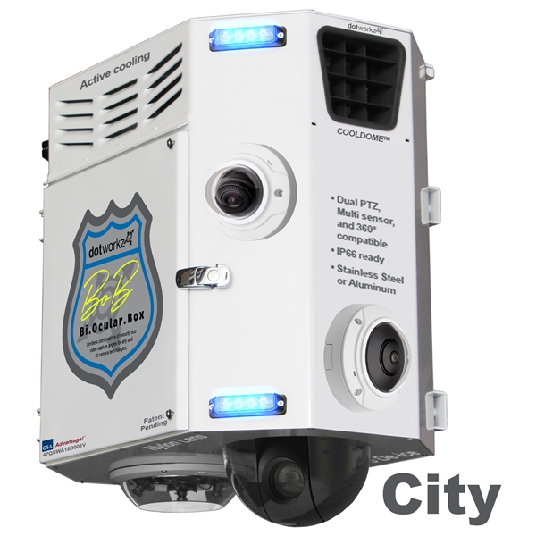 Customize this Bi-Ocular Box (BOB) with Multiple Security Cameras for a Complete City Surveillance POD