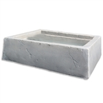 Dekorra 210-EC Large Faux Rock Planter Box in English Castle Finish