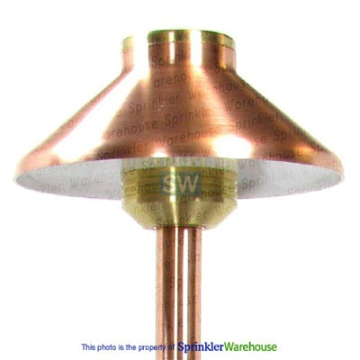 FX 224440 - Copper DL10 DemiLite Pathlight with Stake - 18 inch Riser and 10W Xenon G4 Lamp