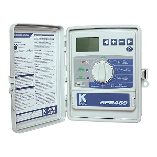 K-Rain 3609 - 9 Station 110 Volt RPS 469 Mid-Size Controller with Internal Transformer