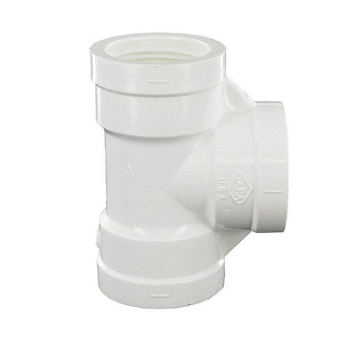 Spears 405-010 - 1 inch fpt x 1 inch fpt x1 inch fpt PVC Threaded Tee