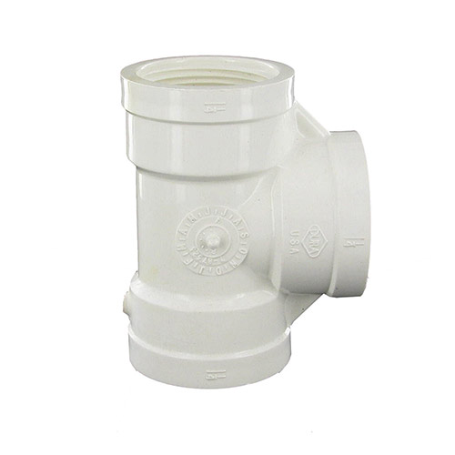 Dura 405-012 - 1-1/4 inch fpt x 1-1/4 inch fpt x 1-1/4 inch fpt PVC Threaded Tee