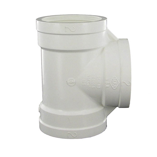 Dura 405-020 - 2 inch fpt x 2 inch fpt x 2 inch fpt PVC Threaded Tee