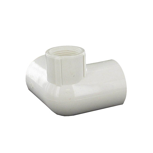 Dura 414-131 - 1 inch slip x 1 inch slip x 3/4 inch fpt PVC Side Outlet 90 Degree Elbow