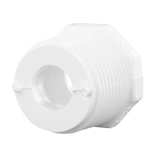 439-130 - PVC Threaded Reducing Bushing 1 (mpt) x 1/2 (fpt)
