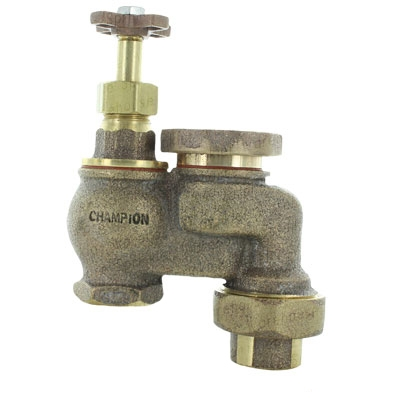 Champion 466-075-C 3/4 in. Anti-Siphon-Valve with Union Yellow Brass