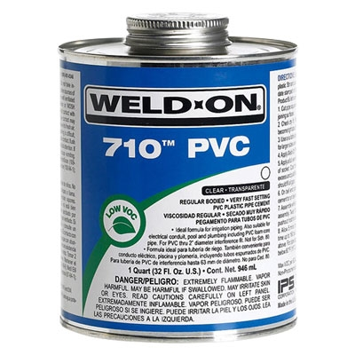 Weld-On 8 oz 710 Very Fast Set Clear Glue | 710-010