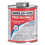 Weld-On 8 oz 750 Medium HotWeld Blue Glue | 750-010