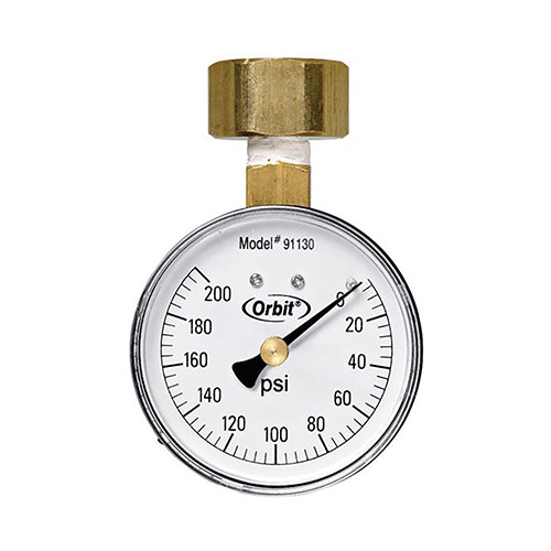 Orbit 91130 200 lb Pressure Gauge