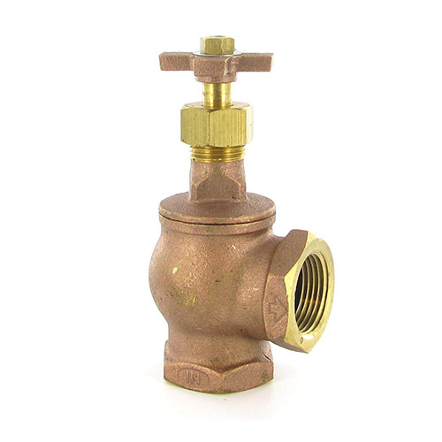 "AV-100 - Aqualine - 1"" FPT Brass Angle Valve with Cross Handle"