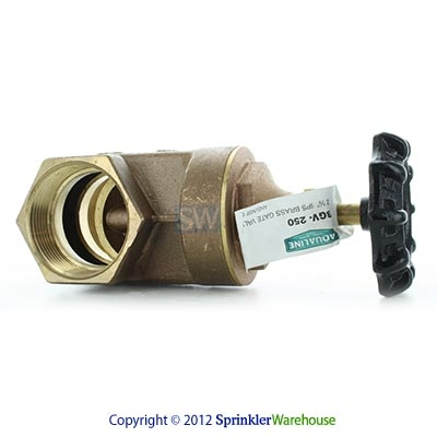 Aqualine BGV-250 2-1/2 Inch Brass Gate Valve with Wheel Handle