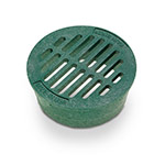 Rain Bird DG4RFG 4 in. Green Round Flat Grate