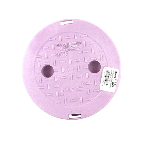 NDS-107P-CR  6 inch Round Valve Box Cover for Non-Potable Water