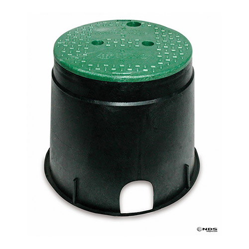 NDS-111BC - NDS 10 Inch Round Valve Box with Overlapping Cover