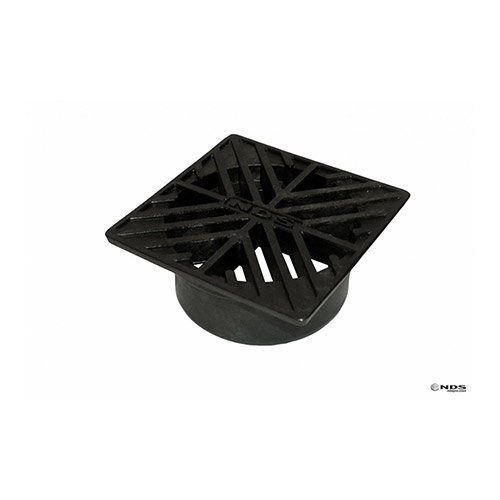 NDS-4 4 in. Black Square Drainage Grate