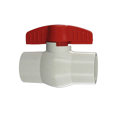 "Aqualine PBV-100S - 1"" plastic ball valve with Slip Ends"
