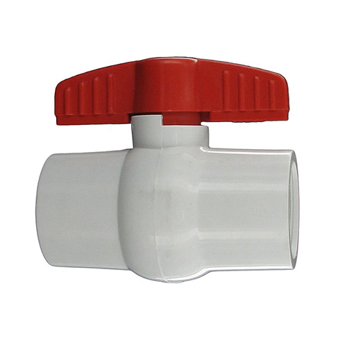 "Aqualine PBV-125 - 1-1/4"" plastic ball valve with threaded ends"