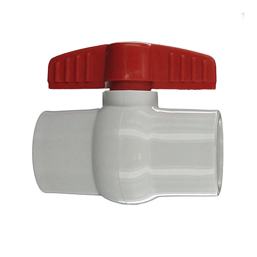 "Aqualine PBV-125S - 1-1/4"" plastic ball valve with Slip Ends"