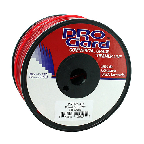 Red Round Line Replacement Trimmer Line - 1/2 Donut