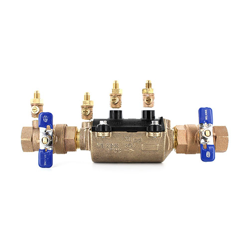 Wilkins 350FT-100 1 in. DCA Backflow Preventer With SAE Test Cock